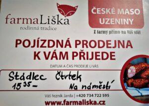 Farma Liška jezdí každý čtvrtek do Stádlce